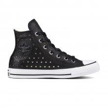 Converse černé tenisky se cvočky Chuck Taylor All Star Hi Black/Silver  - 36