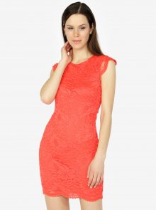 Červené krajkové šaty VERO MODA Sandra