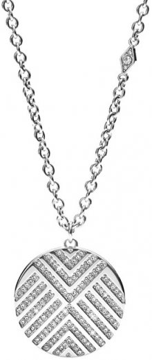 Fossil Ocelový náhrdelník s krystaly JF02673040