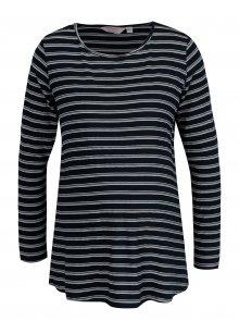 Tmavě modré pruhované těhotenské tričko Dorothy Perkins Maternity