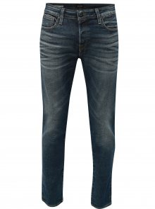 Modré comfort fit džíny s vyšisovaným efektem Jack & Jones