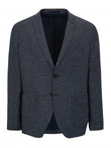 Bílo-modré vzorované sako s příměsí lnu Selected Homme One Venice