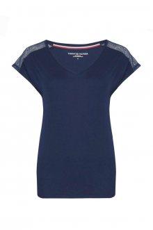 Tommy Hilfiger modré tričko VN TOP SS - XS