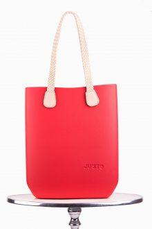 Justo kabelka J-High Rosso s dlouhými provazy natural