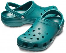 Crocs petrolejové unisex pantofle Classic Evergreen - 36/37