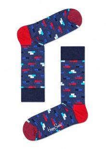 Happy Socks modré ponožky Bricks - 36-40