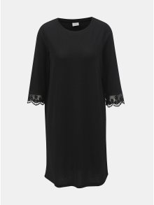 Černé šaty s krajkou na rukávech Jacqueline de Yong Gretha