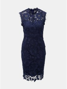 Tmavě modré krajkové pouzdrové šaty Dorothy Perkins