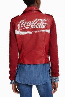 Desigual červený koženkový křivák Lucy Coca Cola - 38