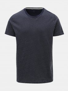 Tmavě modré vzorované tričko SUIT Bayswater