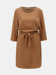 Světle hnědé šaty se zavazováním VILA Naomi