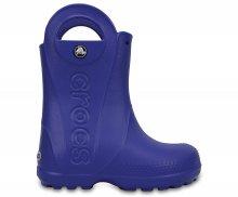 Crocs modré dětské holínky Handle It Rain Boot Kids Cerulean Blue - C9