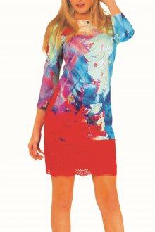 Culito from Spain barevné šaty Suspiro Azul - XS