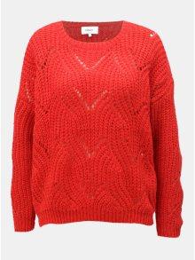 Červený volný svetr s dlouhým rukávem ONLY Havana