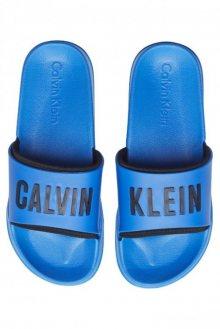 Calvin Klein modré unisex pantofle Slide Intense Power - 35/36