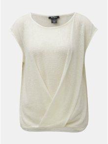 Krémový svetr bez rukávů DKNY