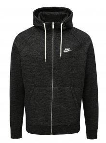 Černá pánská žíhaná mikina na zip Nike Legacy