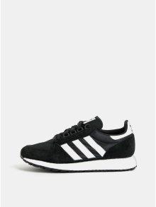 Černé pánské tenisky se semišovými detaily adidas Originals Forest Grove