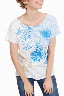 Desigual bílé tričko TS Perla - S