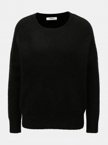 Černý vlněný volný svetr Moss Copenhagen