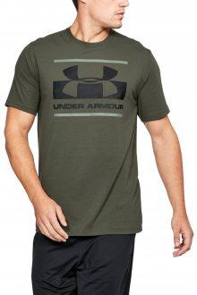 Under Armour khaki pánské tričko Blocked Sportstyle Logo - M