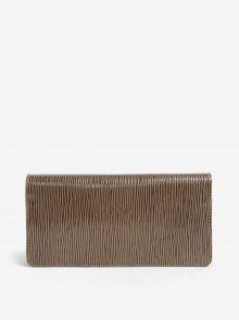 Hnědá dámská kožená vzorovaná peněženka ELEGA Amina