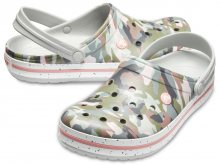 Crocs maskáčové pantofle Crocband Graphic III Camo/Light Grey - W6