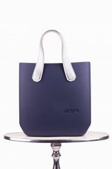 Justo kabelka J-Half Prussia se stříbrnými krátkými koženkovými držadly