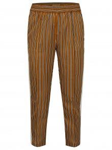 Hořčicové pruhované kalhoty s vysokým pasem Scotch & Soda