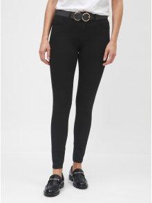 Černé skinny džíny s páskem Dorothy Perkins Bailey