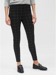 Šedo-černé kostkované skinny kalhoty Dorothy Perkins