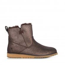 Emu Australia hnědé kožené kotníkové boty Beach Mini Metallic Chocolate - 36