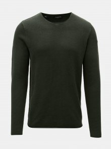 Tmavě zelený svetr Selected Homme Rocky