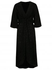 Černé vzorované šaty Miss Selfridge