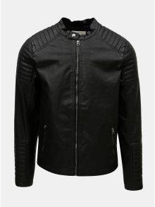 Černá koženková bunda Jack & Jones Punch