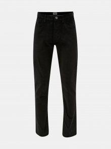 Černé pánské manšestrové kalhoty Wrangler Arizona