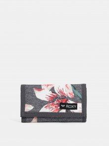 Šedá vzorovaná peněženka Roxy Charcoal