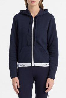 Calvin Klein tmavě modrá dámská mikina Full Zip Hoodie - S