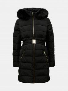 Černý prošívaný těhotenský kabát Dorothy Perkins Maternity