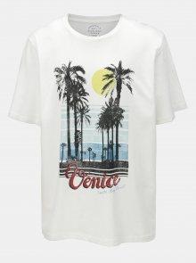 Bílé tričko s potiskem Jack & Jones Pleo