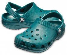 Crocs dětské petrolejové pantofle Classic Clog Evergreen - 23/24