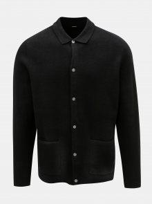 Černý kardigan s knoflíky Burton Menswear London