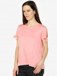 Růžové tričko VERO MODA Jemia
