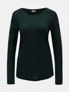 Tmavě zelené tričko Jacqueline de Yong Olivia