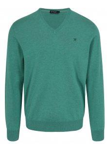 Zelený svetr s véčkovým výstřihem Hackett London