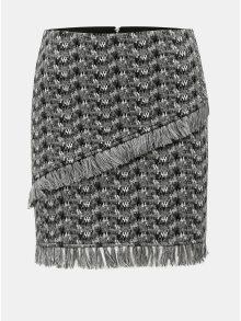 Šedá vzorovaná sukně s třásněmi Noisy May Kara