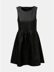 Černé koženkové šaty ONLY Wilshire