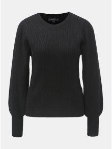Černý svetr s balónovými rukávy Selected Femme Phillipa