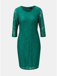 Zelené krajkové šaty s 3/4 rukávem Smashed Lemon