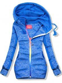 Modrá mikina s barevným zipem